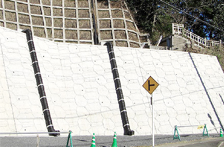 湊公園崖地対策法面保護工事